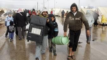 Syrer in einem jordanischen Flüchtlingslager. (Archiv)