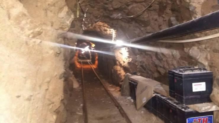 Licht, Schienen, Luftzufuhr: Der 800 Meter lange Tunnel von Mexiko in die USA war gut ausgebaut.