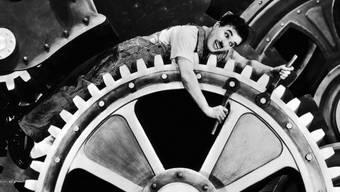 Charlie Chaplin im Film Modern Times von 1936