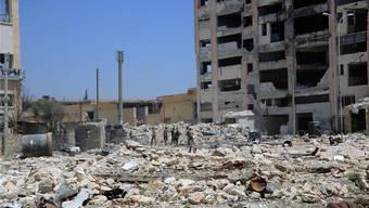 Nach den heftigen Bombardierungen durch die russische Luftwaffe liegen grosse Teile von Aleppo und Umgebung in Trümmern. Sana/Reuters