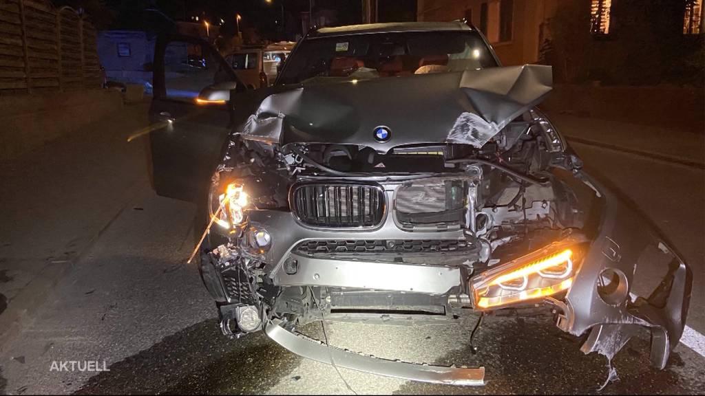 Menziken: Alkoholisierter BMW-Lenker donnert in Pizzeria