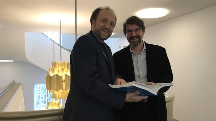 Leonardo Galeazzi und Franco Trinca, hier im Stadttheater Solothurn, treten in der Marienkirche auf.
