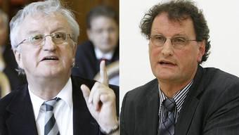 «Ich will in einem Land leben, in dem ich sicher bin», sagt der FDP-Politiker Rolf Büttiker (links). «Wir haben in der Schweiz Überkapazitäten», findet der Geri Müller (Grüne).