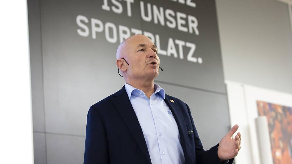 Erleichtert über den Abschluss der letzten Saison und vorsichtig optimistisch für die nächste Saison: Liga-Direktor Denis Vaucher