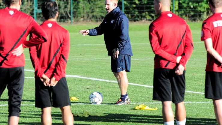 Heiko Vogel gab gestern in seinem erst zweiten Training als Chef bereits klar den Weg vor.  Kenneth Nars