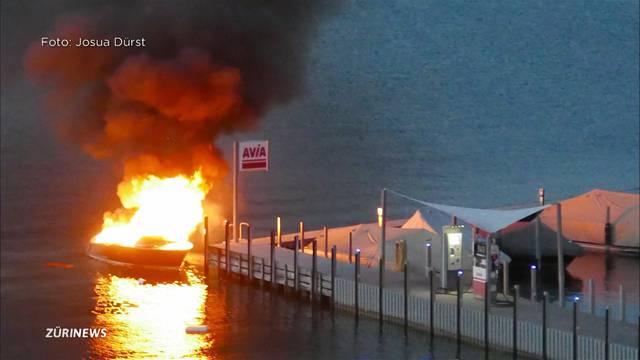 Motorboot in Bäch explodiert
