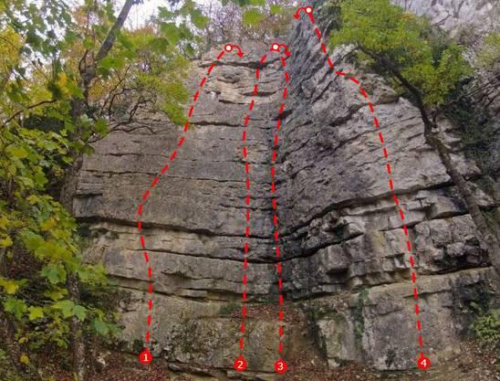 Kletterwand Fluh in Untersiggenthal