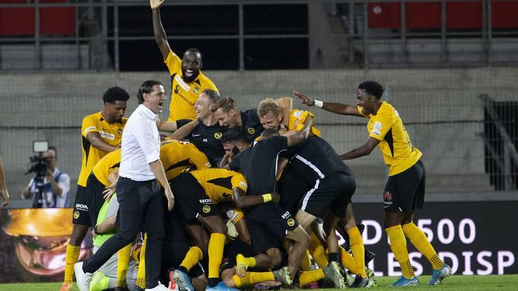Der Meisterjubel: Die Young Boys feiern im Tourbillon ihren 14. Titel.