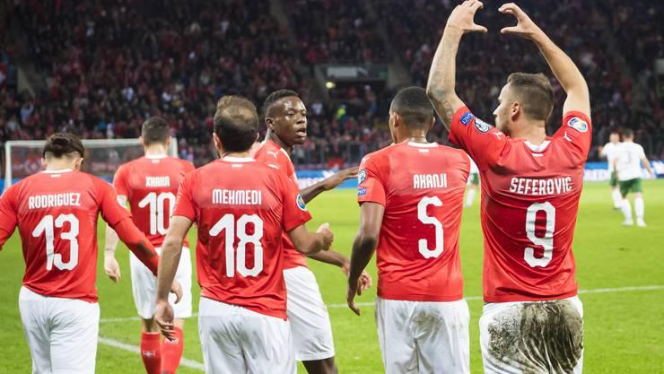 Die Schweizer Spieler in der Einzelkritik: Torschütze Seferovic erhält die beste Note im Team.