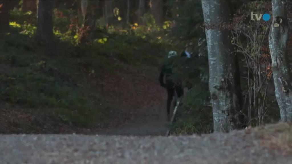 In AR kommen sich Biker und Wander in den Weg