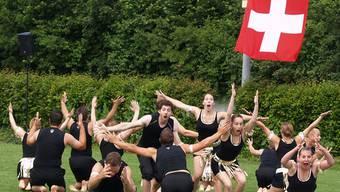 So sehen Sieger aus: Sulz beim Gymnastikprogramm.