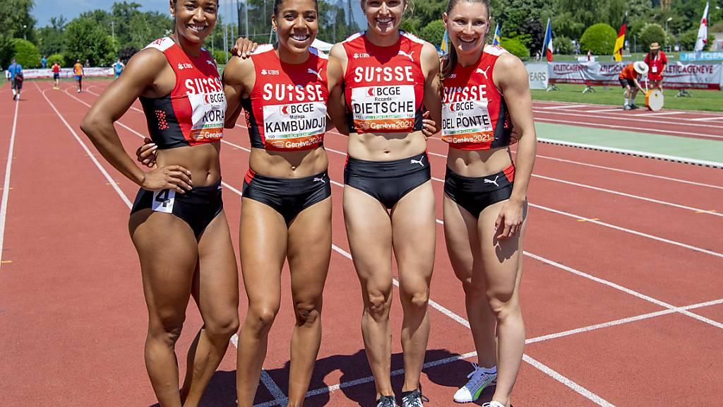 Die 4x100-m-Staffel der Frauen ist einer der Schweizer Trümpfe in Tokio