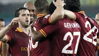 Gervinho (Nr. 27) traf zum 1:0 für die AS Roma