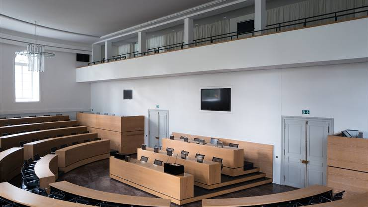 Derzeit bleibt der Grossratssaal häufig leer. Am Dienstag findet erst die zweite Sitzung in diesem Jahr statt. Archiv