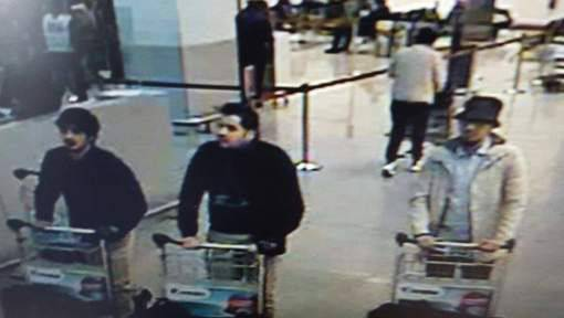 Die mutmasslichen Attentäter von Brüssel wurden von einer Kamera am Flughafen aufgenommen.