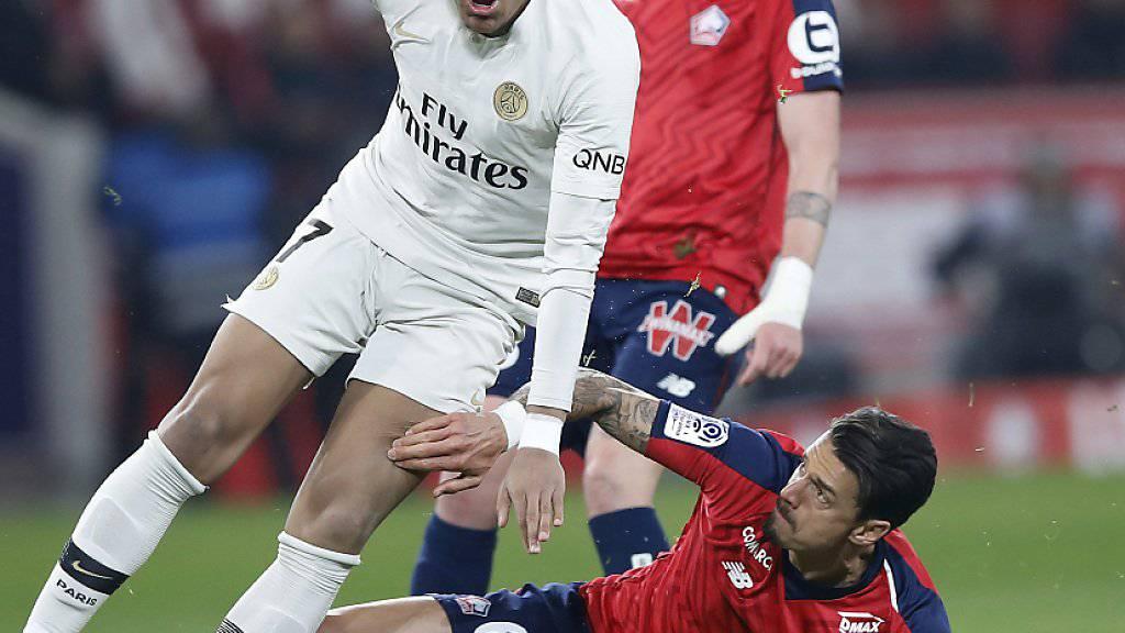 Kylian Mbappé und die Pariser müssen in Lille einstecken