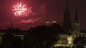 Die letztjährige Bundesfeier auf dem Berner Hausberg Gurten. Ab diesem Jahr gilt ein Feuerwerksverbot.