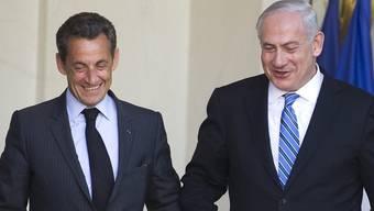 Frankreichs Präsident Sarkozy und der israelische Ministerpräsident Netanjahu in Paris