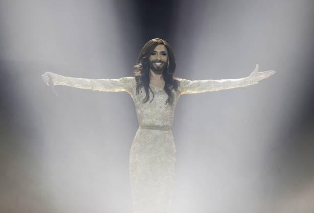 Conchita Wurst bei ihrem Halbfinal-Auftritt am Eurovision Song Contest.