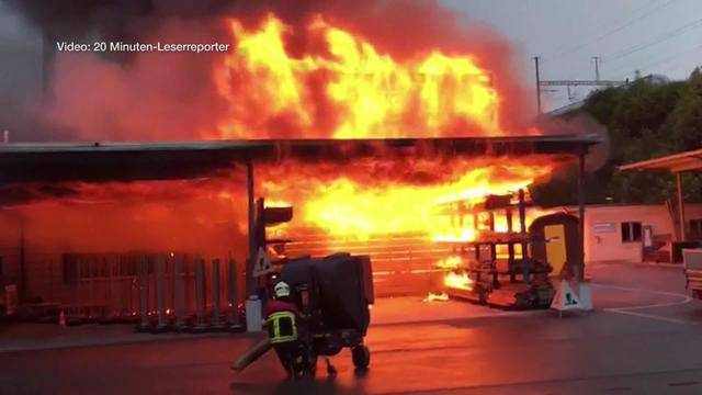 Forstwerkhof Lenzburg: Ein Raub der Flammen