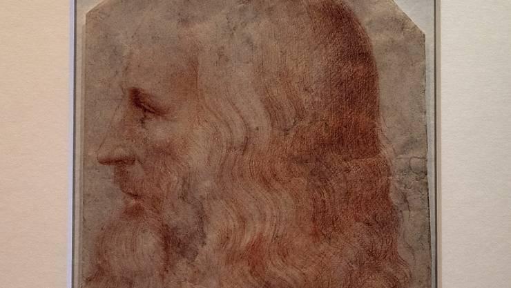 Mit Vollbart: Das neu entdeckte Porträt von Leonardo da Vinci.