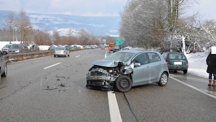 Unfall bei der Verzweigung Luterbach