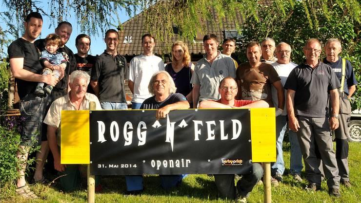 Bereits am letzten Freitag hat sich das «Rogg'n'Feld»-Team getroffen, um die Zelte aufzubauen.
