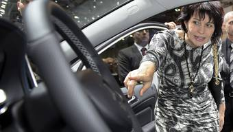 Bundesrätin Doris Leuthard eröffnet den 85. Autosalon in Genf