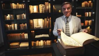 Franz Käppeli macht seine Sammlung medizinhistorischer Bücher mit einem Museum im Singisenflügel in Muri allen zugänglich. zvg
