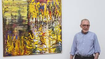 In der Debatte um ein Gerhard-Richter-Museum in Köln hat sich jetzt der Künstler selbst zu Wort gemeldet. Für ein solches Museum gebe es keinerlei konkreten Pläne, bestätigte Richter (im Bild) dem Deutschlandfunk am Mittwoch. (Archivbild)