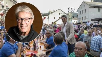 Wiedersehen in Klingnau: Roman Kilchsperger und die Klingnauer Jassfans trafen sich in der letztjährigen Sendung in Simplon Dorf. Dieses Jahr war Bernhard Russi als Promigast geplant.
