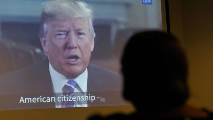 Er stand nicht zur Wahl - doch um ihn drehte sich bei den US-Zwischenwahlen alles: US-Präsident Donald Trump