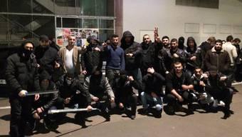 Die Basler Gruppe der kurdischen Strassengang Sondame, deren Zürcher Version am Samstagabend rund um die Langstrasse für Aufruhr sorgte