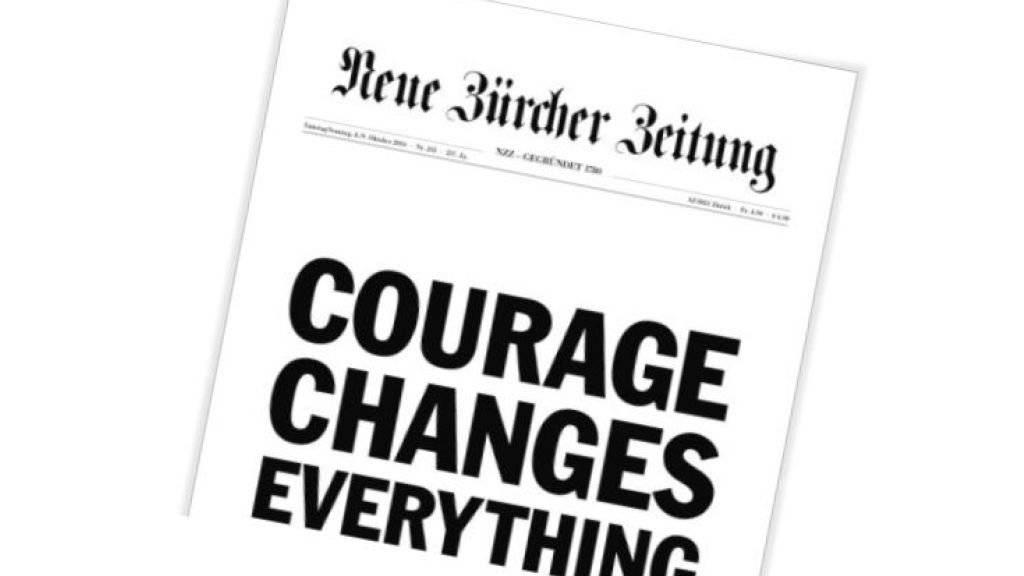 Zum ersten Mal in ihrer Geschichte hat die «Neue Zürcher Zeitung» ihre Frontseite an einen Werbekunden verkauft.