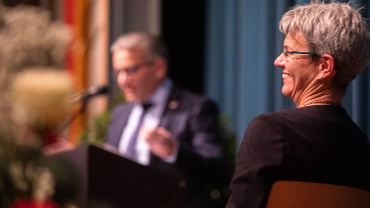 Verena Meyer wurde am Mittwoch zur Kantonsratspräsidentin 2019 gewählt, am Abend wurde eine Feier für sie gegeben.