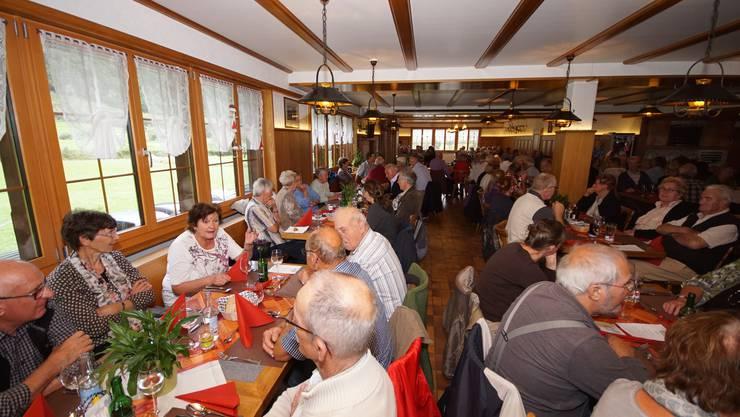 """Mittagessen in Restaurant """"Wasserfallen"""" in Engelberg"""