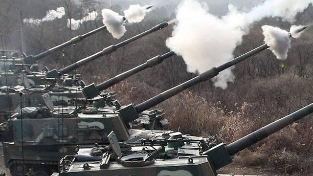 K-9-Granatenfeuer der südkoreanischen Armee