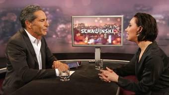 «Weiche Knie» nach der Sendung: Salomé Balthus im Talk bei Roger Schawinski.