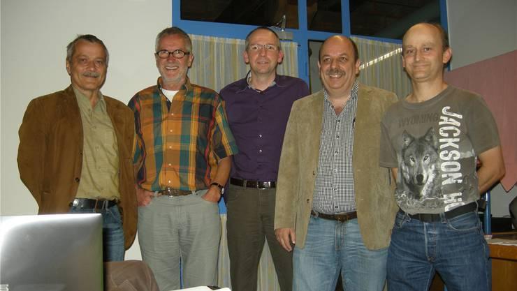 René Kühne, Adolf Gut, Markus Kobel, Markus von Felten und Arno Bürgi (v.l.)uz