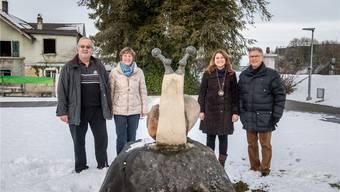 Fridolin Fontana, Ruth Furter, Manuela Misteli und Ueli Siegenthaler (v.l.) haben eines gemeinsam – sie sind alles ehemalige «Schnäggemüettere» und «Schnäggevättere».