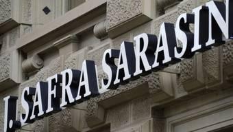 Das Logo der Bank J. Safra Sarasin (Archiv)