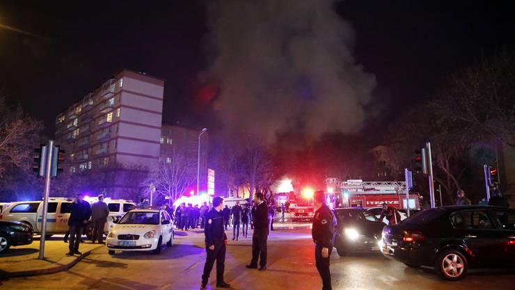 Die Bombe ging im Regierungsviertel hoch.