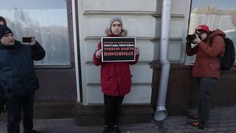 Verfechter der Pressefreiheit protestiert in Moskau: Russland und neun weitere Staaten haben im NGO-Ausschuss der UNO die Assoziierung des Komitees zum Schutz von Journalisten verwehrt. (Archivbild)