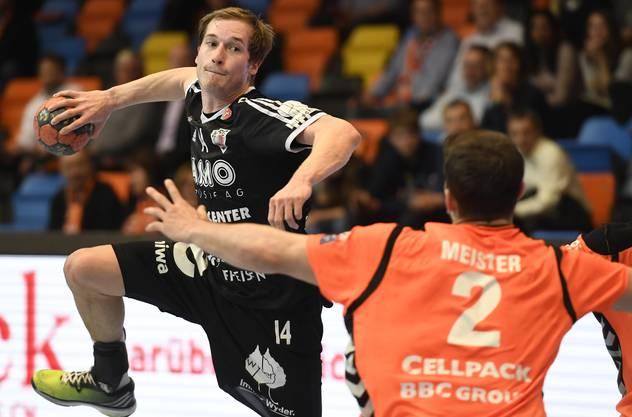 Patrick Romann (l.) während seiner letzten Partie für den HSC Suhr Aarau.