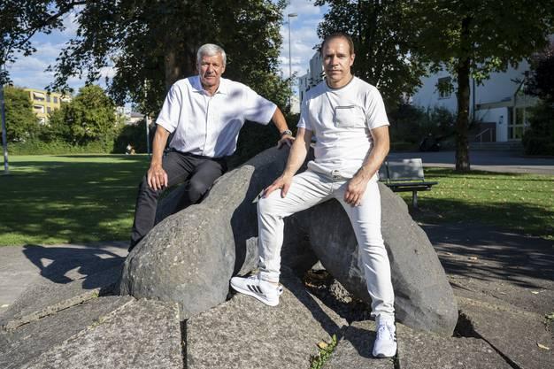 Heinz Muntwyler und Rocco Cipriano beim Andy-Hug-Memorial in Wohlen.