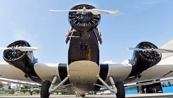 Etwas für Nostalgiker: Eine JU-52.