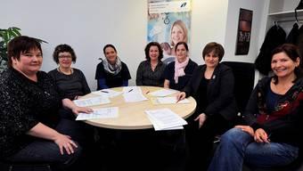 Sie bilden das Kader von Spitex Thal (von links): Karin Saner, Verena Gerber, Cornelia Woodtli, Irene Welte, Esther Heer, M. Isabel Zimmermann (Geschäftsführerin), Renate Stuber.