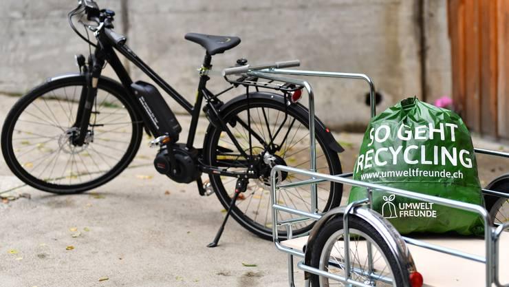 Die Umweltfreunde in Wangen bei Olten werden wie in Olten auch mit E-Bike und Anhänger unterwegs sein