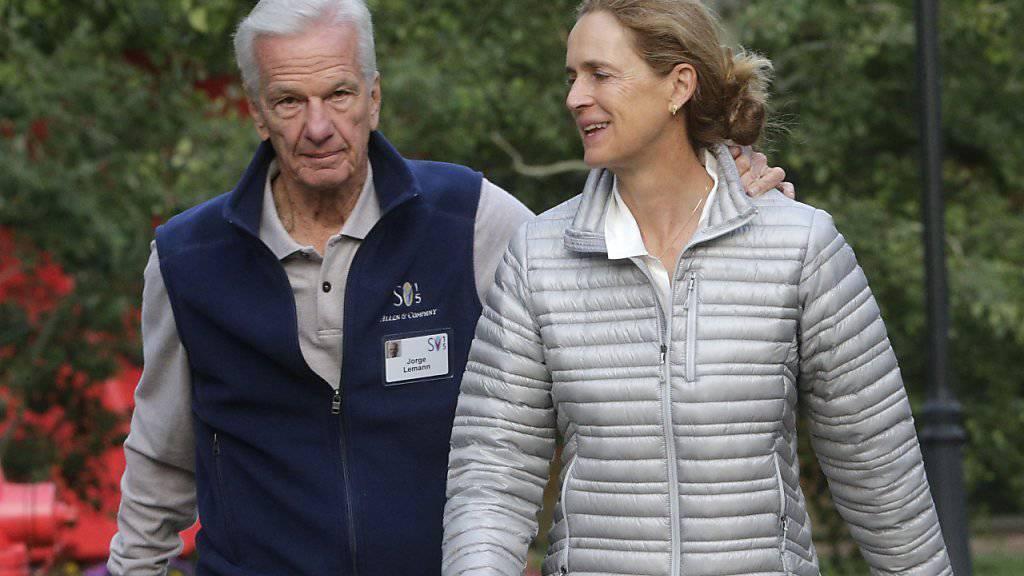 Mit seiner Investmentgesellschaft 3G der grösste Einzelaktionär von AB Inbev: Der 73-jährige Jorge Leemann mit Frau Susanna in Sun Valley, USA. (Archiv)