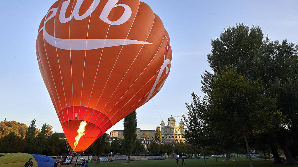 An der 62. Ausgabe des Gordon Bennett in Bern hebt auch ein Ballon von Energie Wasser Bern (ewb) ab.